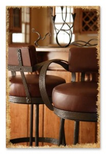 Wrought Iron Bar Stools Artisan Crafted Iron Furnishings