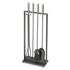 Timeless Wrought Iron - Fireplace Toolset with Silver Handles