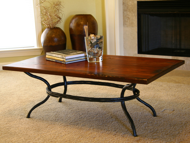 Timeless Wrought Iron - Woodland Cocktail Table