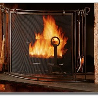 Timeless Wrought Iron - Fireplace Screens
