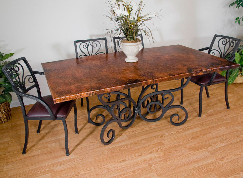 wood and metal dining room sets timeless wrought iron table reclaimed wooden
