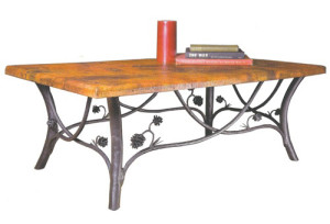 Timeless Wrought Iron Piney Woods Cocktail Table