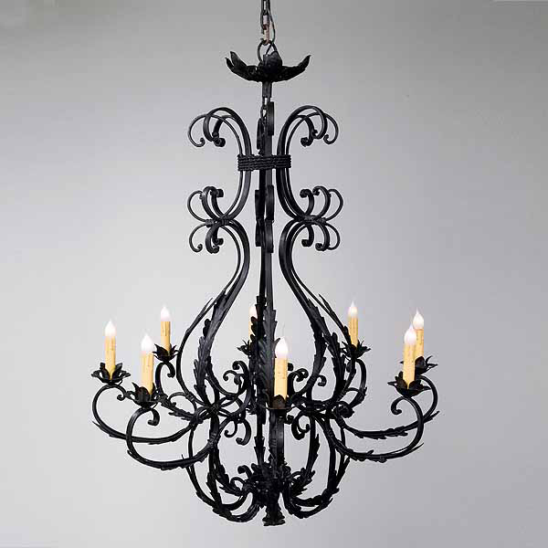 Creating elegant country homes with timeless wrought irons - Classic wrought iron chandeliers adding more elegance in the room ...