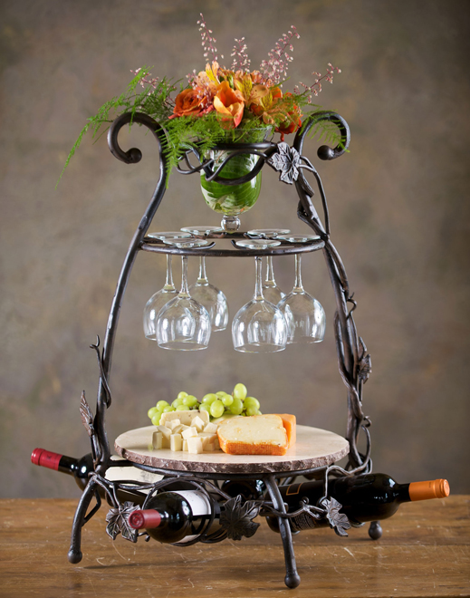 Timeless Wrought Iron - Wine & Cheese Party Server