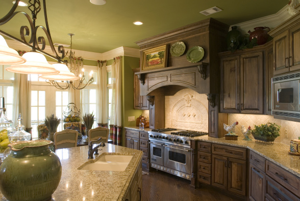 Elegant Kitchen Designs Using Wrought Iron Accessories Artisan
