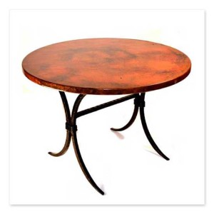 Salisbury Iron Dining Table with Copper Top