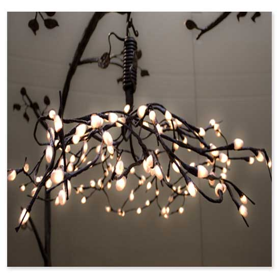 The chandelier adds to the whimsical beauty of this bed with its soft glow and fine details. Using low voltage incandescent lighting with 120 volt converter ... & Sweet Dreams and Happy Ever Afters: The Enchanted Forest Canopy ...