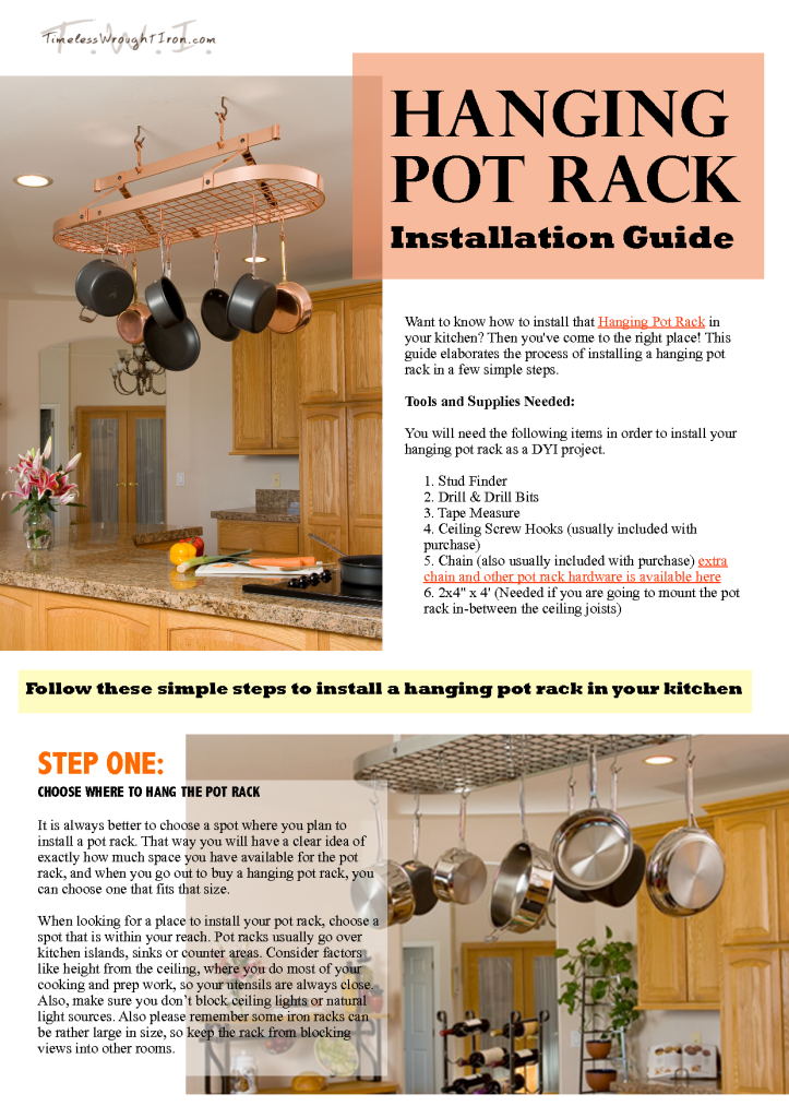 Whimsical Pot Racks Ft Stone County Iron Works And