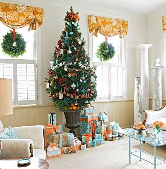 Christmas Decorations With Orange: Unexpected Hues Offer Exciting Christmas Décor Possibilities