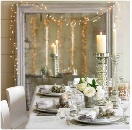 White christmas table decorations - White Room Looks Especially Lovely When Lit By White Christmas Lights
