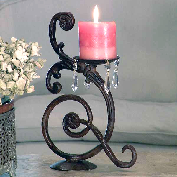 Iron Candle Stand Designs : Romance the bedroom with a decorative wrought iron bed