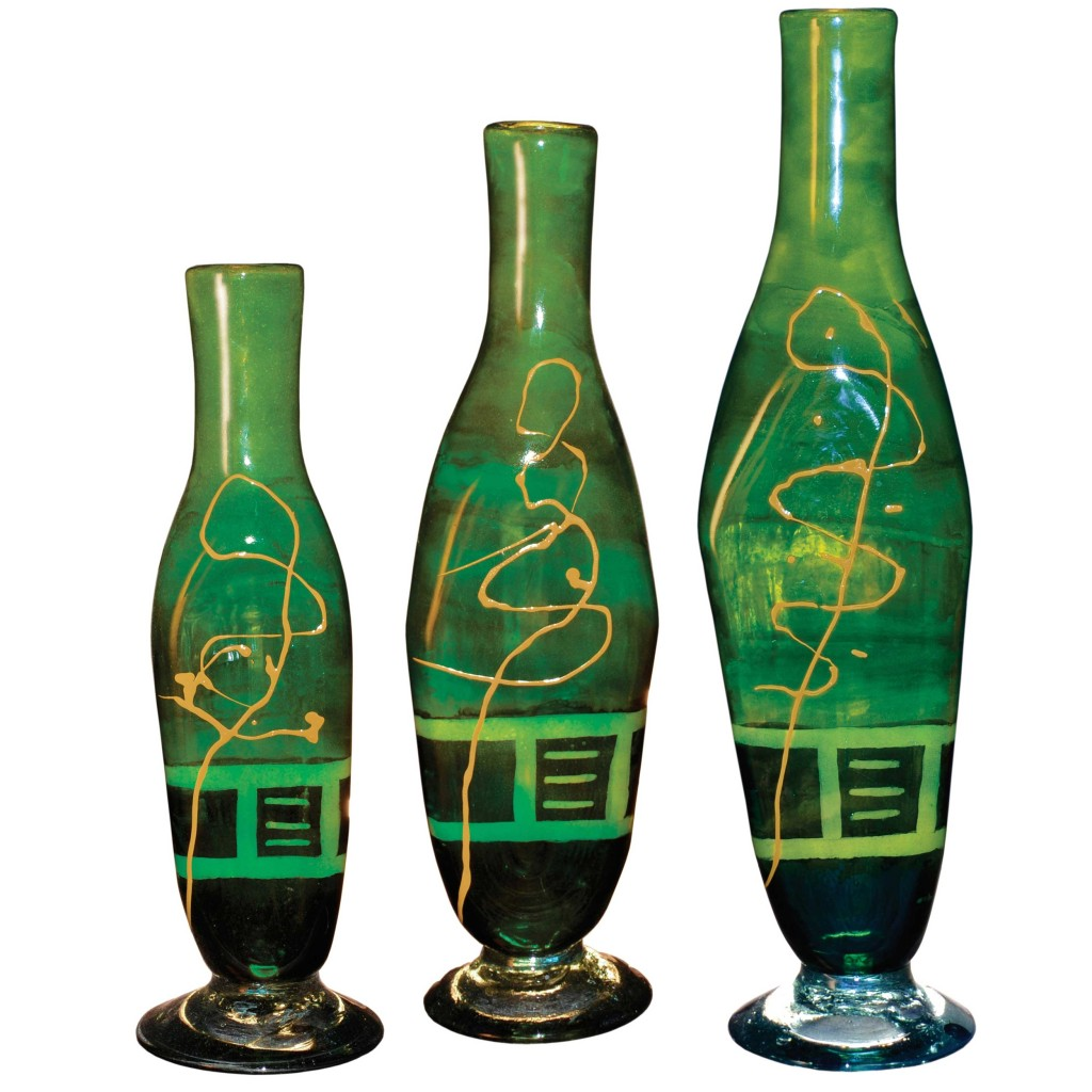 Iguana Green Glass Bottles