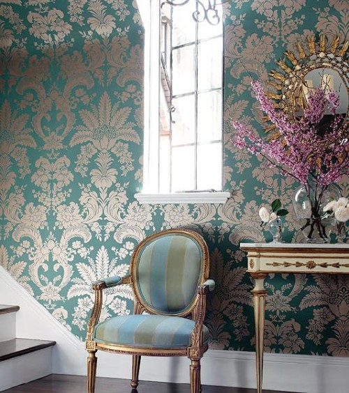damask wallpaper 1