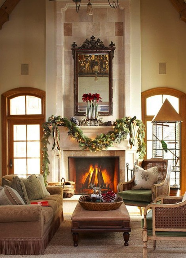 Symmetry Balance Via The Fireplace Mantel