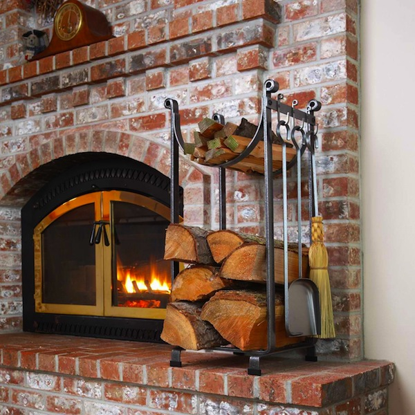 Fireplace Tools and Wood Rack