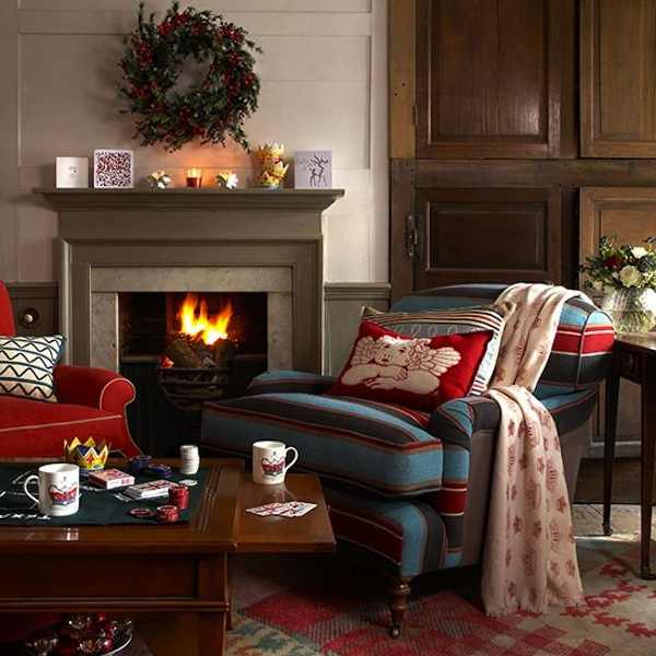 Country Living Room Decorating: 15 Fireplace Mantel Ideas For The Holidays