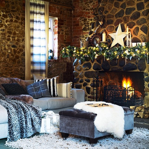 Decorate Living Room Pictures: 15 Fireplace Mantel Ideas For The Holidays