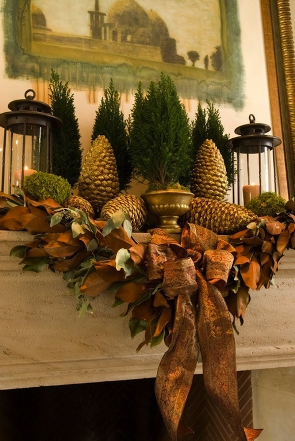 15 Fireplace Mantel Ideas For The Holidays