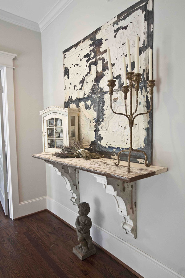 This Is More Corbel Table Than Shelf But We Couldn T Resist Love The Antique Shabby Chic Look