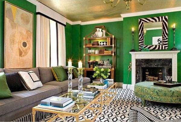 Gold And Green Decor 3