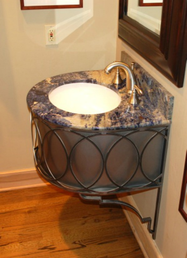 New Wrought Iron Bathroom Vanities By Urban Ironcraft Artisan - Wrought iron bathroom vanity stand