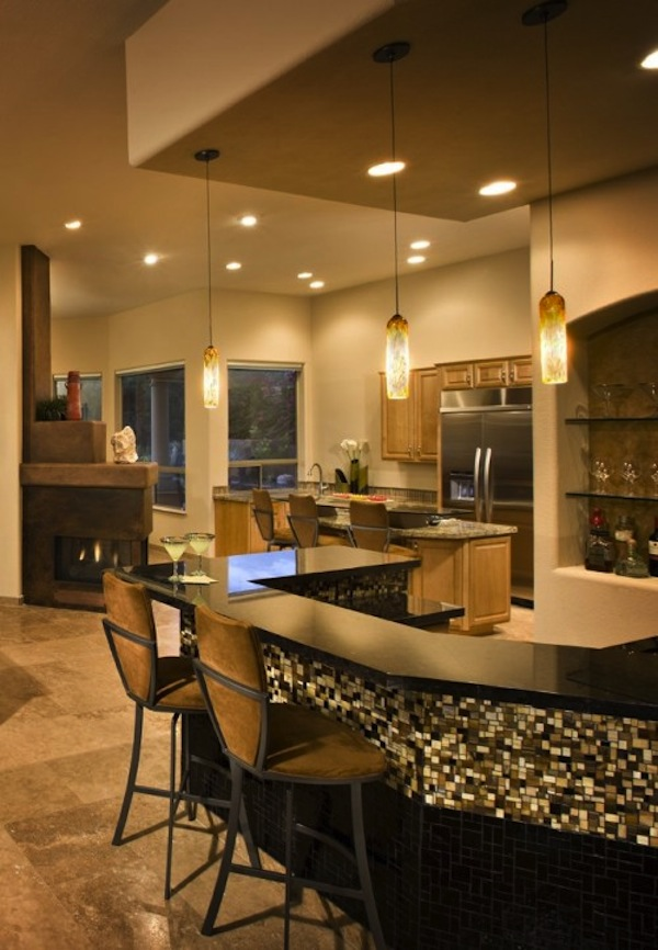 12 cool home bar designs - Basement bar layout ideas ...