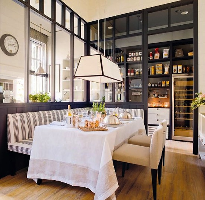 10 clever banquette side chair ideas tips artisan crafted iron furnishings and decor blog. Black Bedroom Furniture Sets. Home Design Ideas