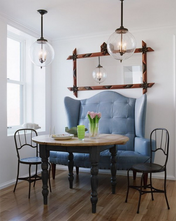 10 Clever Banquette + Side Chair Ideas u0026 Tips : Artisan Crafted Iron Furnishings and Decor Blog