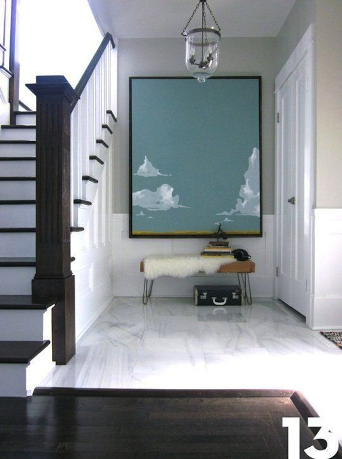 Large Art For Foyer : Get the look benches in entry