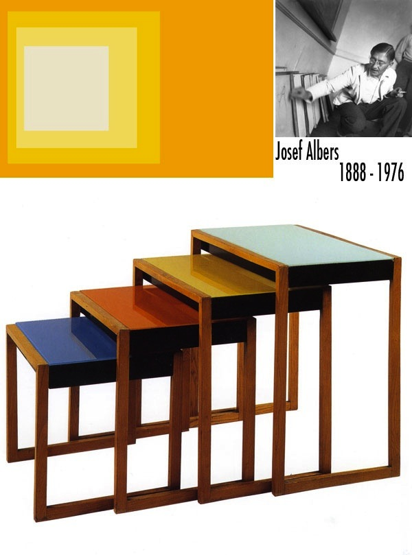 Modern History Bauhaus Nesting Tables Artisan Crafted