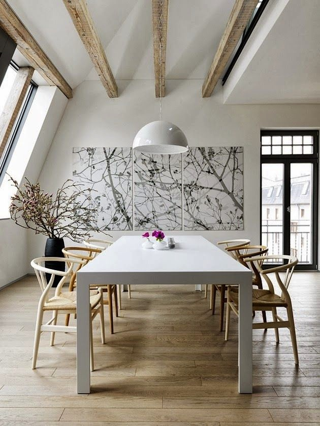How to choose the ideal dining armchair for Wishbone chair table