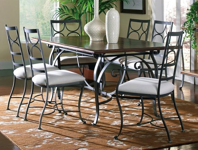 Wrought Iron Dining Armchairs