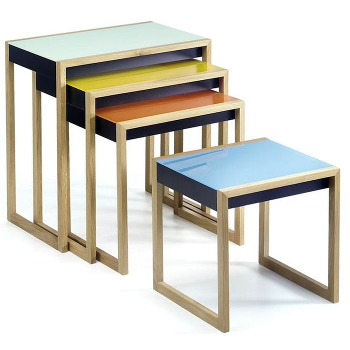 Modern history bauhaus nesting tables artisan crafted for Table gigogne ikea