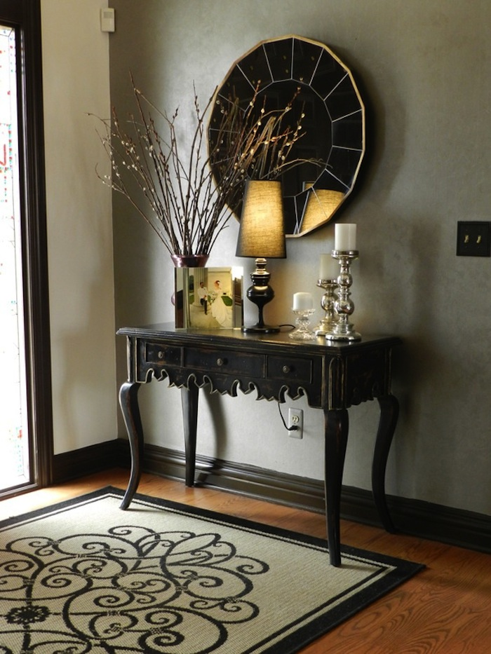 Attractive Foyer Console Table