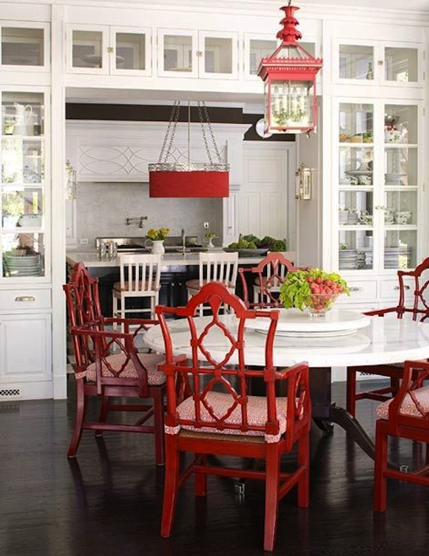 Red Dining Armchairs