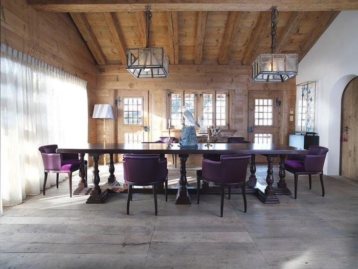 Purple Dining Armchairs