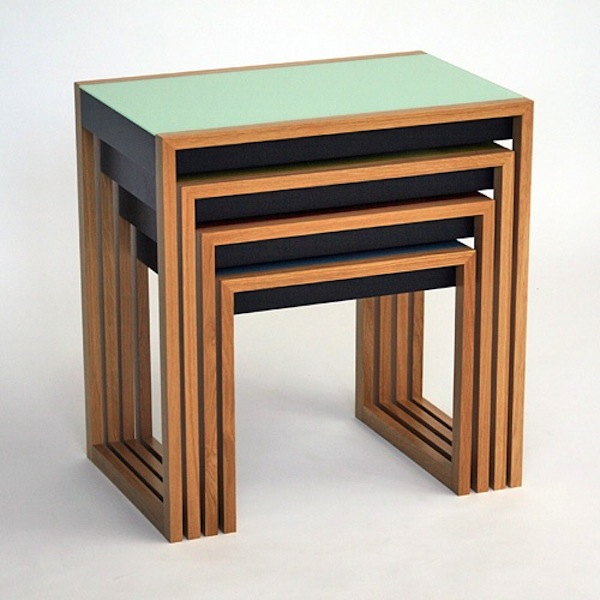Nesting Tables modern history: bauhaus nesting tables | artisan crafted iron