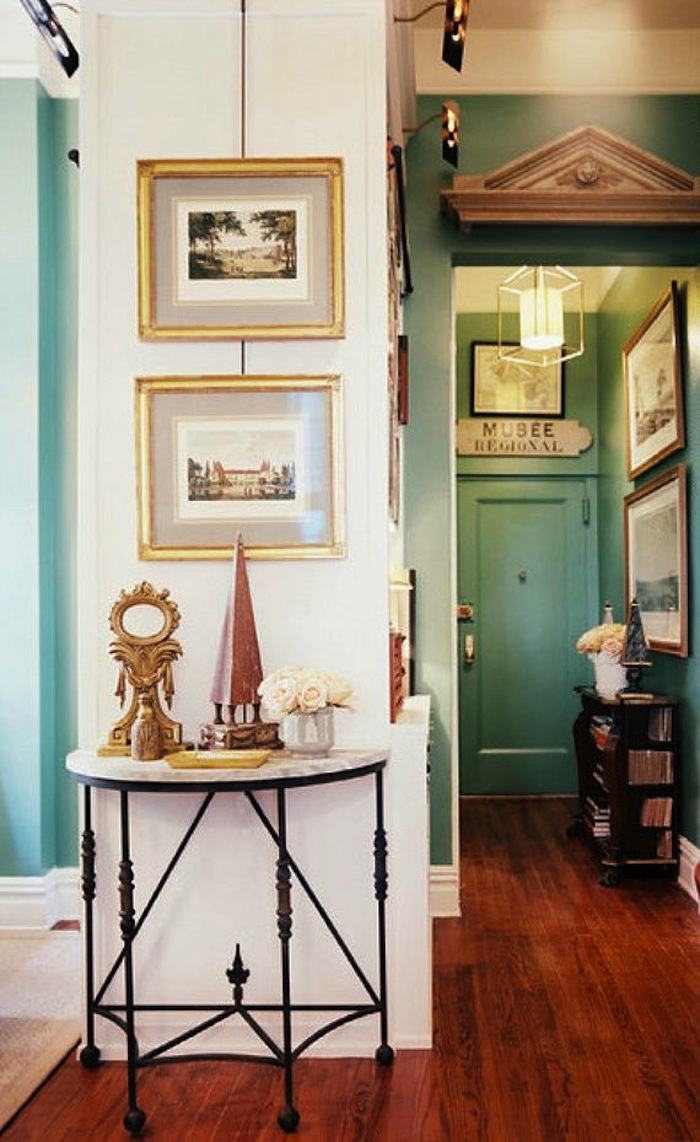 Create impact with console tables in the entry artisan Foyer console decorating ideas