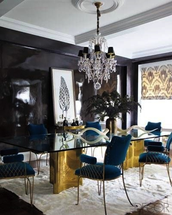 Gold Wire Dining Armchairs