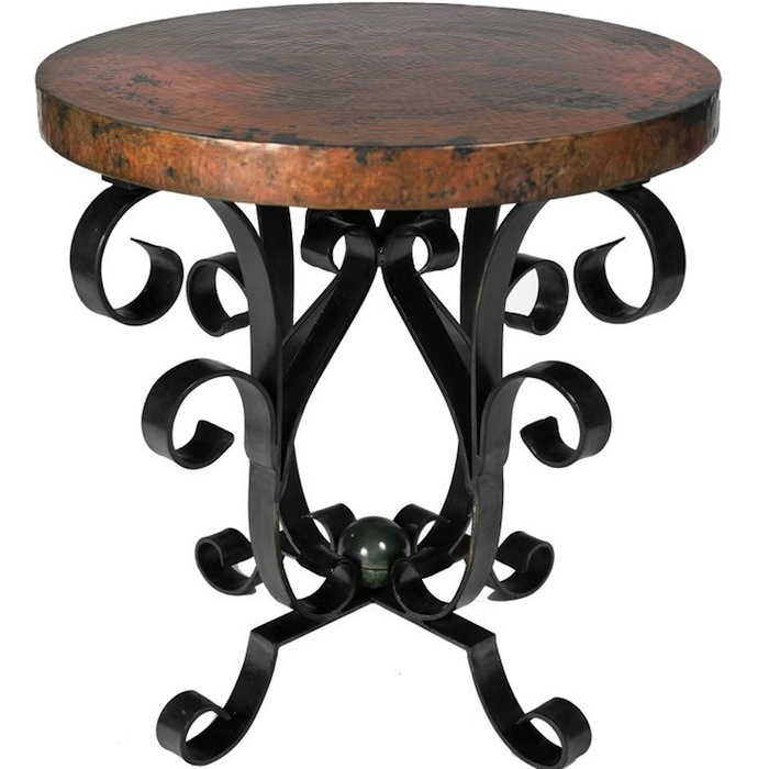 Accent Old World Style Decor With Iron Tables