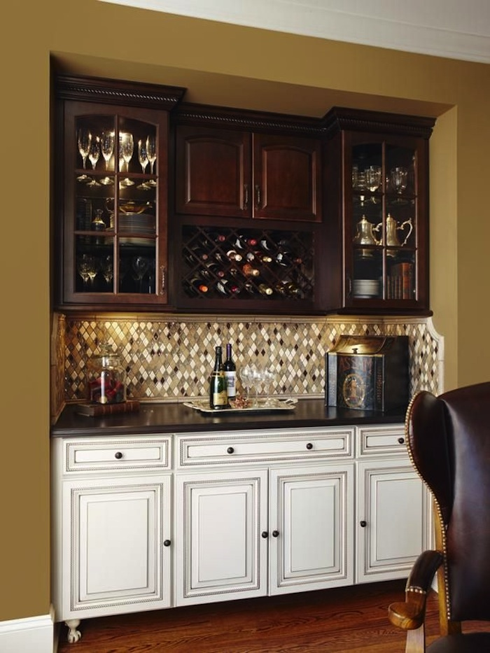 Bachelor s pad bar ideas tips - Wet bar cabinets ...