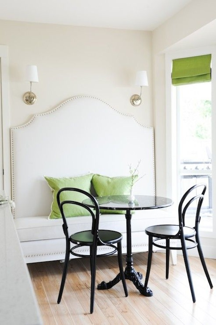 Iron Bistro Table with Banquette