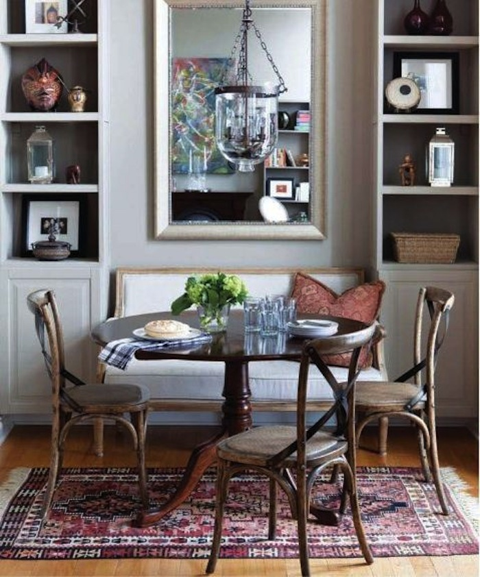 This Elegant Little Dining Rooms Gains A Bit Of Space By Tucking The
