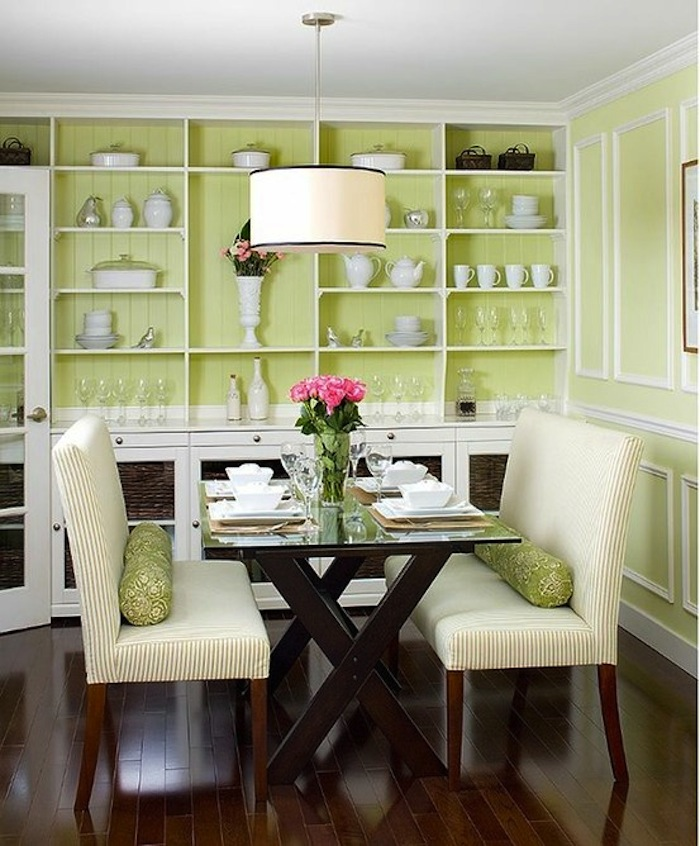 15 small dining room table ideas tips artisan crafted for Dining room decorating ideas for small spaces