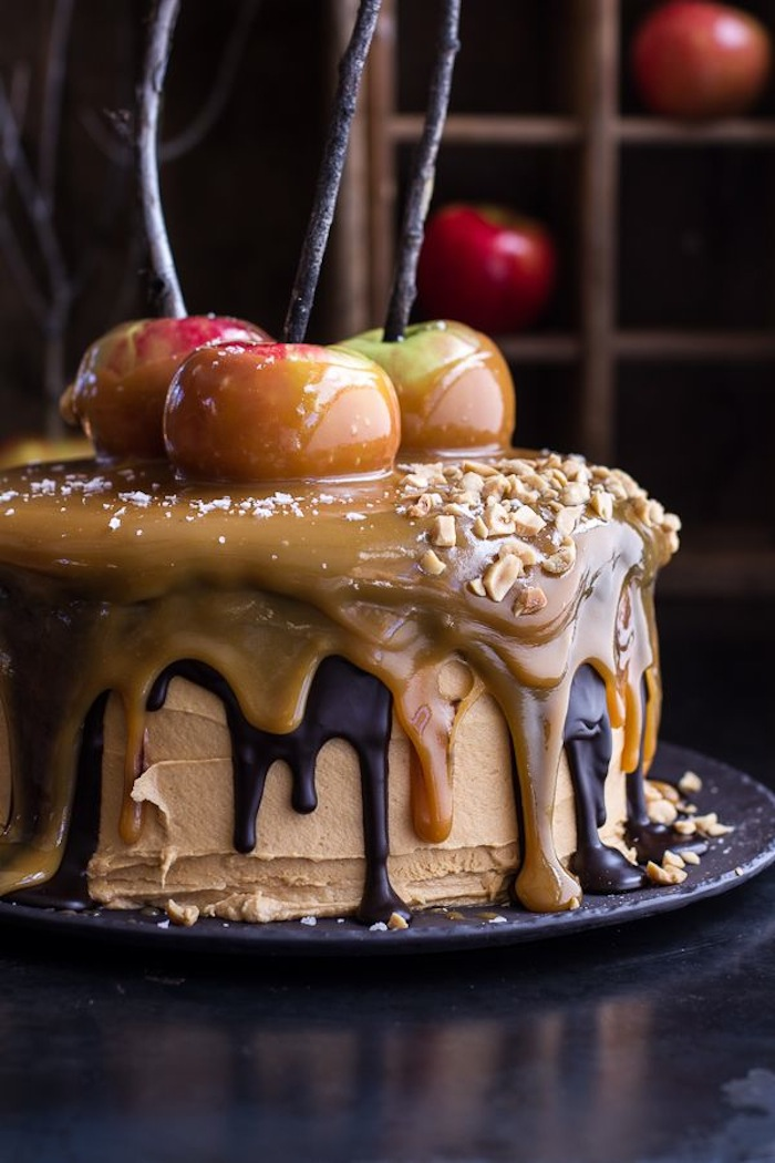 Thanksgiving Salted Caramel Cake