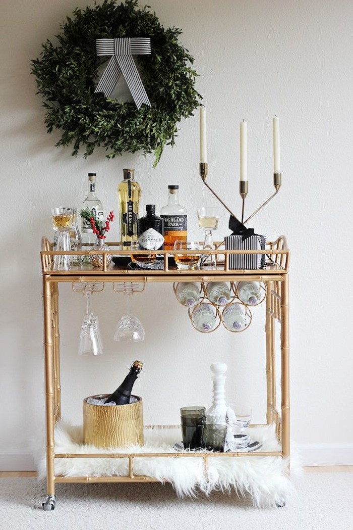 Holiday Bar Cart