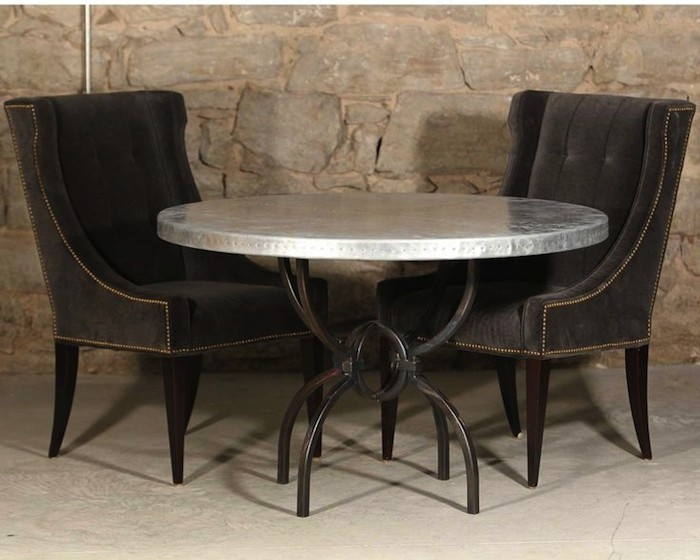 Round Wrought Iron Dining Tables You\'ll Love | Artisan Crafted Iron ...