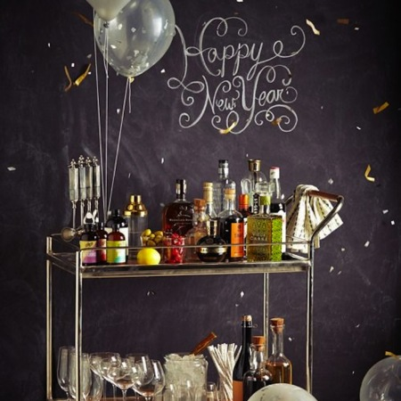 New Year's Bar Cart