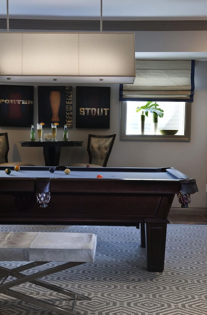 Pub Tables in the Game Room | Artisan Crafted Iron ...