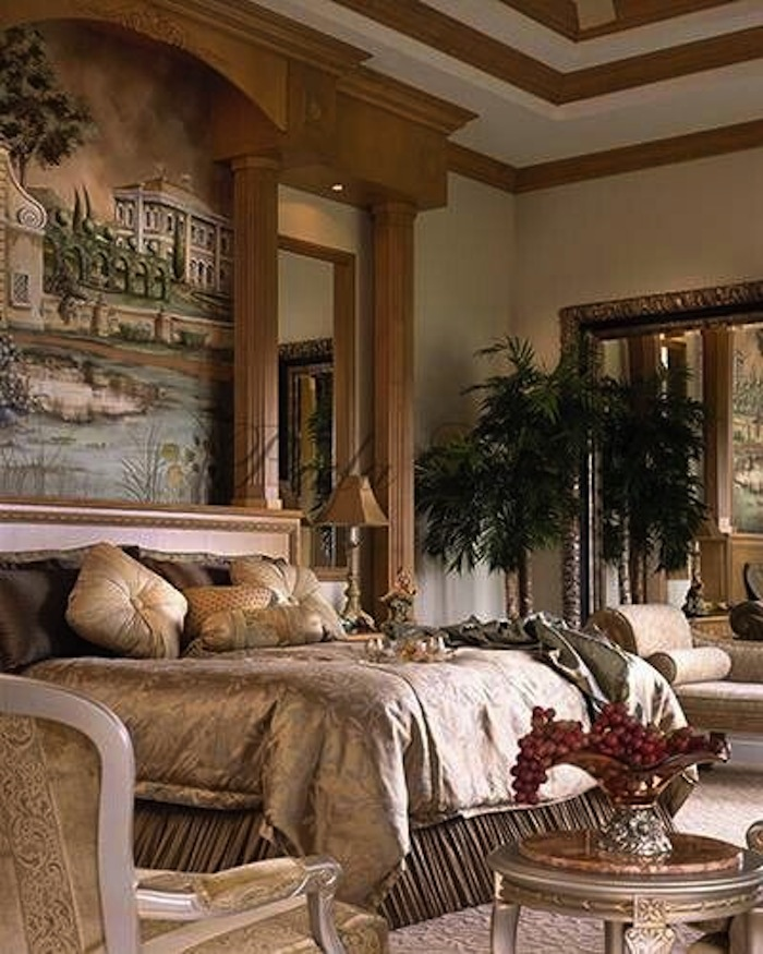 Inviting Old World Style Bedrooms Crafted Iron